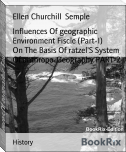 Influences Of geographic Environment Fiscle (Part-I)        On The Basis Of ratzel'S System Of anthropo-Geography PART-2