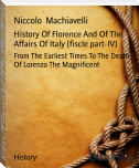 History Of Florence And Of The Affairs Of Italy (fiscle part-IV)
