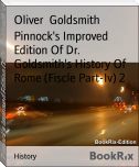 Pinnock's Improved Edition Of Dr. Goldsmith's History Of Rome (Fiscle Part-Iv) 2
