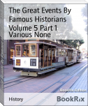 The Great Events By Famous Historians Volume 5 Part 1
