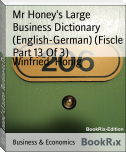 Mr Honey's Large Business Dictionary (English-German) (Fiscle Part 13 Of 3)