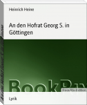 An den Hofrat Georg S. in Göttingen