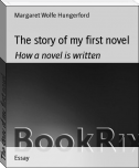 The story of my first novel