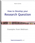 How to Develop your Research Question