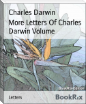 More Letters Of Charles Darwin Volume