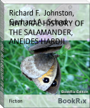 NATURAL HISTORY OF THE SALAMANDER, ANEIDES HARDII