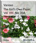 The Girl's Own Paper, Vol. VIII. No. 358, November 6, 1886.