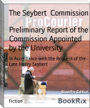 Preliminary Report of the Commission Appointed by the University