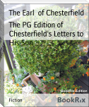 The PG Edition of Chesterfield's Letters to His Son