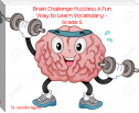 Brain Challenge Puzzles: A Fun Way to Learn Vocabulary – Grade 5