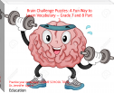Brain Challenge Puzzles: A Fun Way to Learn Vocabulary – Grade 7 and 8 Part 3