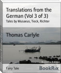 Translations from the German (Vol 3 of 3)