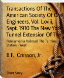 Transactions Of The American Society Of Civil Engineers, Vol. Lxviii, Sept. 1910 The New York Tunnel Extension Of The