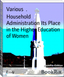 Household Administration Its Place in the Higher Education of Women