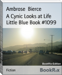 A Cynic Looks at Life Little Blue Book #1099