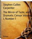 The Mirror of Taste, and Dramatic Censor Volume I, Number 1