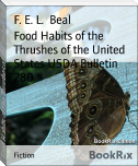 Food Habits of the Thrushes of the United States USDA Bulletin 280