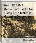Mother Earth, Vol. 1 No. 3, May 1906 Monthly Magazine Devoted to Social Science and Literature