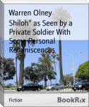 "Shiloh"" as Seen by a Private Soldier With Some Personal Reminiscences"