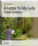 A Letter To My Lady