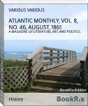 ATLANTIC MONTHLY, VOL. 8, NO. 46, AUGUST, 1861