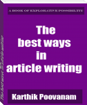 The best ways in article writing