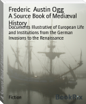 A Source Book of Mediæval History