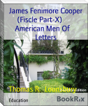 James Fenimore Cooper (Fiscle Part-X)        American Men Of     Letters