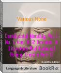 Continental Monthly, Vol. I, No. V, May, 1862 Devoted To Literature And National Policy  (Fiscle Part-X)