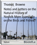 Notes and Letters on the Natural History of Norfolk More Especially on the Birds and Fishes