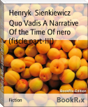 Quo Vadis A Narrative Of the Time Of nero (fiscle part-III)