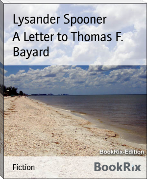 A Letter to Thomas F. Bayard