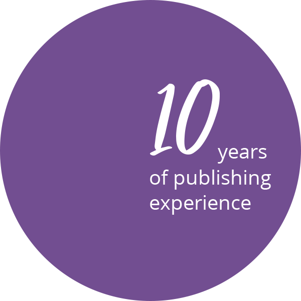 10 years of publishing experience